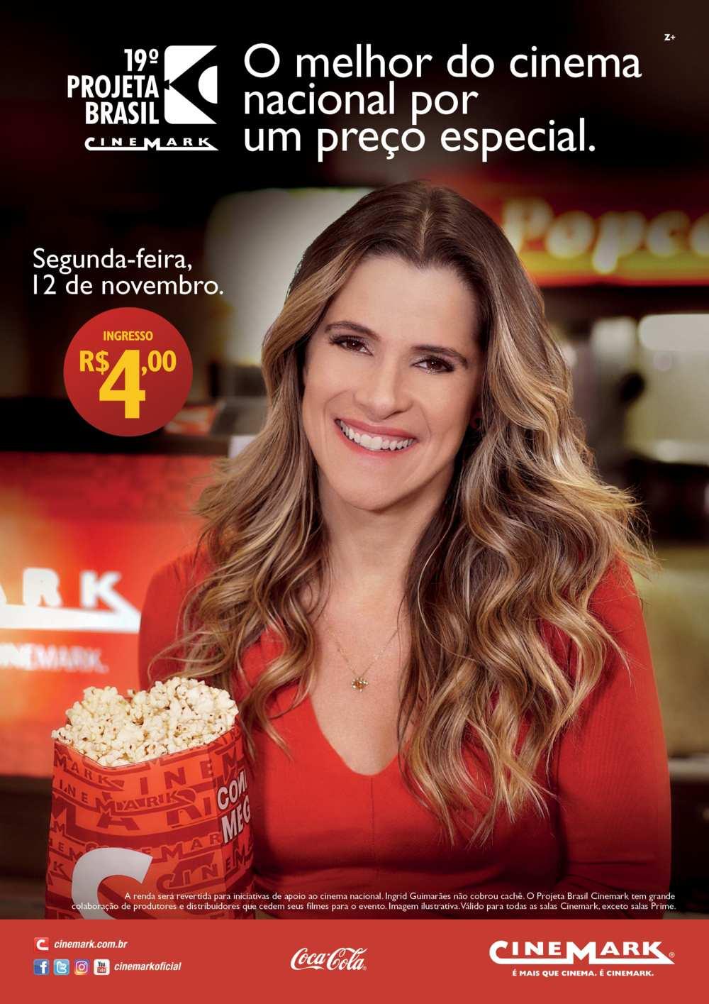 697bc493c667a Um dia inteiramente dedicado ao cinema nacional. Este é o Projeta Brasil,  evento da Cinemark Brasil que chega a sua 19ª edição, com a exibição das ...