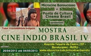 MOSTRA CINE ÍNDIO BRASIL IV - 26/4 a 4/5/2013